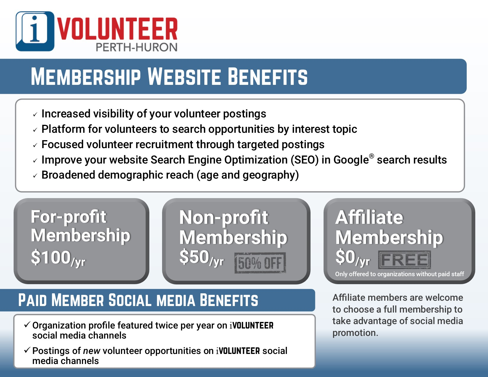 Become a Member Organization - I Volunteer Perth - Huron